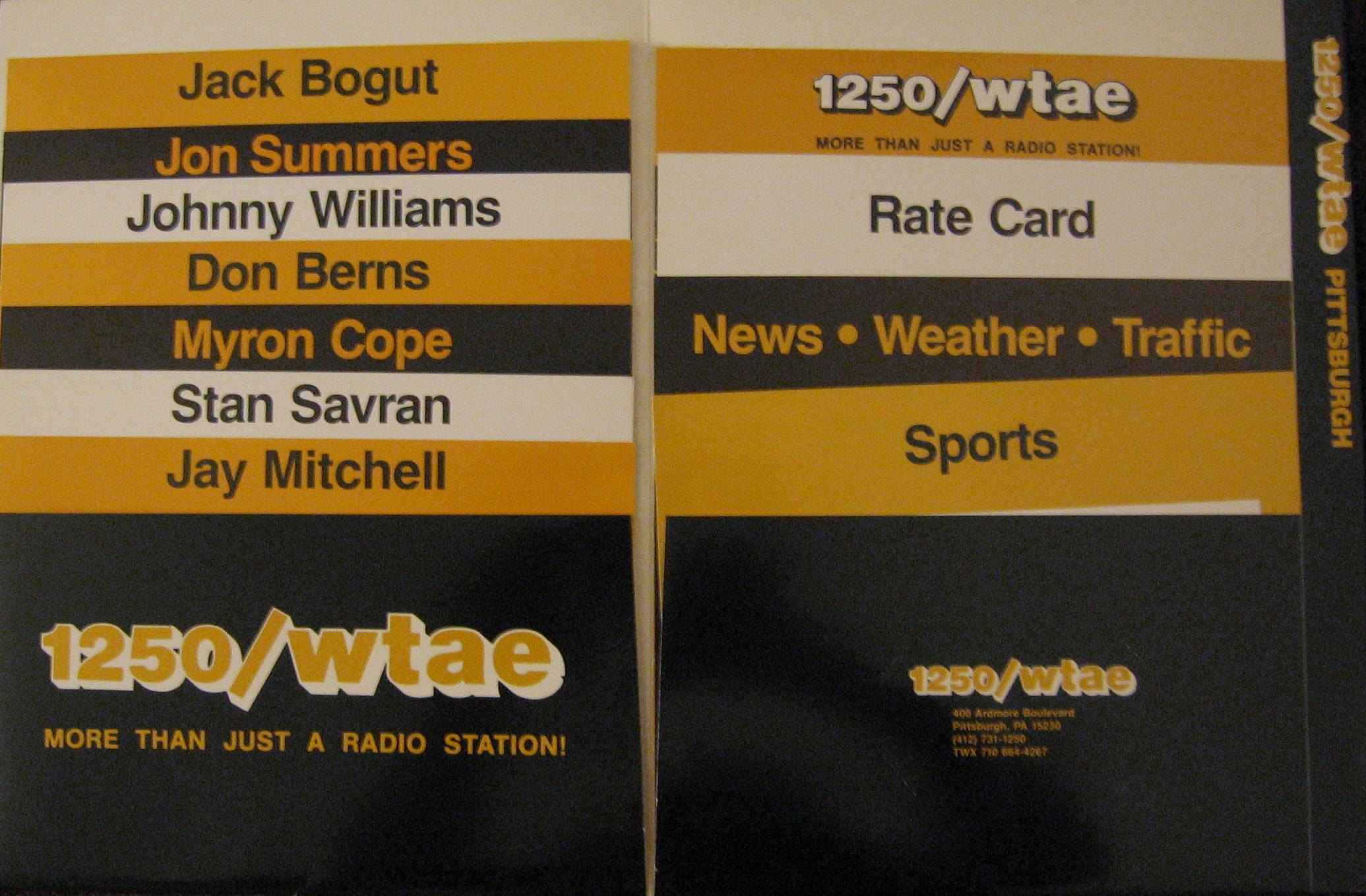 Jeff Roteman's WTAE Website - 1983 WTAE Media Kit